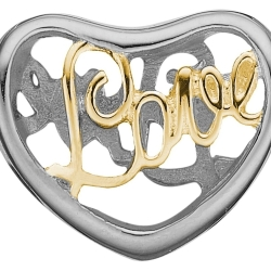 Ladies Christina Sterling Silver Love Bead Charm 623 S12