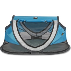 DERYAN Pop up Travel Cot Peuter Luxe with Mosquito Net Blue