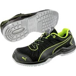 PUMA Safety Fuse TC Green Low 644210 43 ESD protective footwear S1P Size 43 Black Green 1 Pair