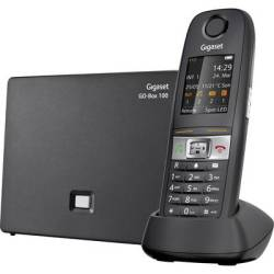 Gigaset E630A GO Cordless VoIP shockproof waterproof Hands free Colour TFT LCD Black
