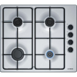 BOSCH PBP6B5B80 Gas Hob Stainless Steel Stainless Steel