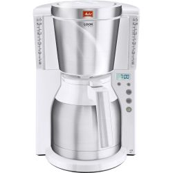 MELITTA Look IV Therm Timer Filter Coffee Machine White Stainless Steel Stainless Steel