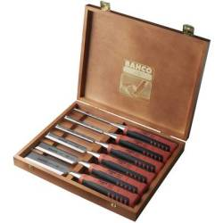 BAHCO Set of 6 Chisels in Wooden Case 424P S6 EUR