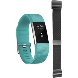 Unisex Fitbit Charge 2 Bluetooth Fitness Activity Tracker Watch FB407STEL EU