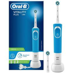 Oral B Vitality Plus CrossAction Power Handle Electric Toothbrush Blue