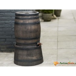 Nature Rain Butt With Wood Look 120L 50.5x66 cm Brown