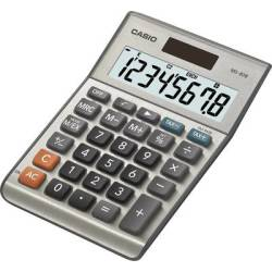 Casio MS 80B Desk calculator Silver grey Display (digits) 8 solar powered battery powered (W x H x D) 103 x 29 x 147 mm