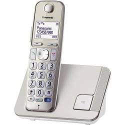 Panasonic KX TGE210 Cordless Big Button Hands free Backlit Champagne