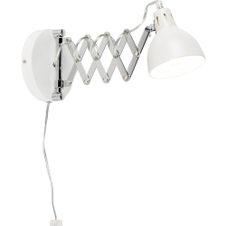Industrial wall lamp white adjustable Forbici