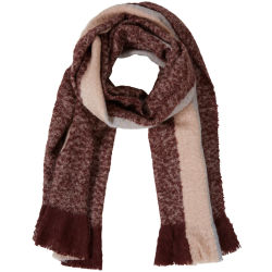 Y.A.S Soft Scarf Women Grey Pink White