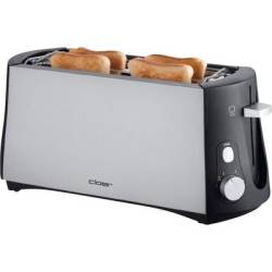 Cloer Toaster 3710 Twin long slot toaster with built in home baking attachment Black Silver