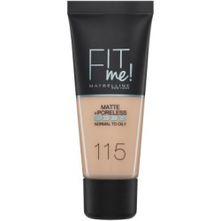 Maybelline Fit Me Matte and Poreless Foundation 30ml (Various Shades) 115 Ivory