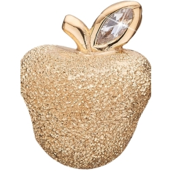 Ladies Christina Gold Plated Sterling Silver Sparkling Apple Bead Charm 623 G81