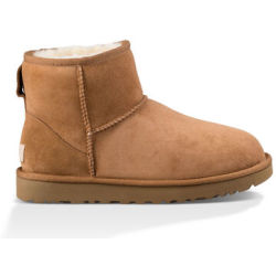 UGG Women's Classic Mini II Boot in Chestnut Size 6 Shearling