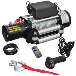 vidaXL Electric Winch 12 V 13000 lbs
