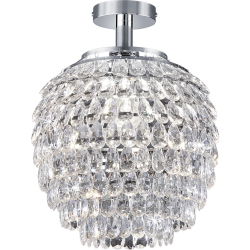 Classic Round Ceiling Lamp Chrome Petty
