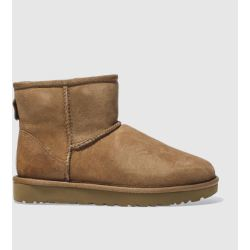 UGG Women's Classic Mini II Boot in Chestnut Size 3 Shearling