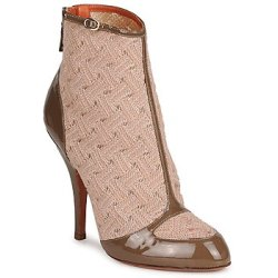 Missoni LISCIA women's Low Ankle Boots in Beige