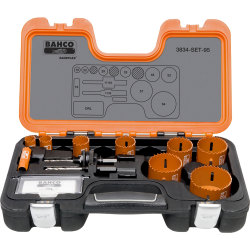 Bahco 14 Piece Professional Hole Saw Set Metric