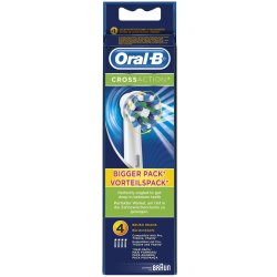 Oral B CrossAction Replacement Rechargeable Toothbrush Heads Pack of 4
