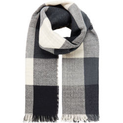 Y.A.S Soft Check Scarf Women Blue White