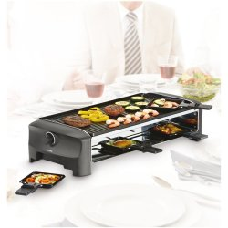 Princess Raclette 8 Person Oval Stone and Teppanyaki Party