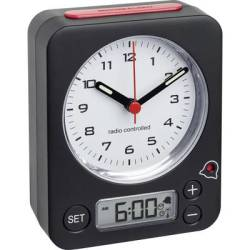 TFA Dostmann 60.1511.01 Radio Alarm clock Black Fluorescent Hands