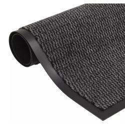 vidaXL Dust Control Mat Rectangular Tufted 90x150 cm Anthracite