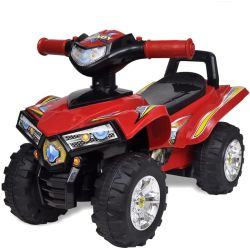 vidaXL Red Children's Ride on Quad with Sound and Light