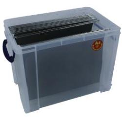 Really Useful 19L Plastic Storage Box With Lid W375xD255xH290mm Clear