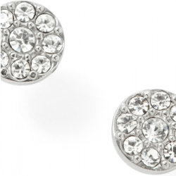 Fossil Women Disc Silver Tone Studs One size