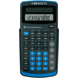 Texas Instruments TI 30 ECO RS CAS calculator Black Display (digits) 10 solar powered (W x H x D) 71 x 13 x 147 mm