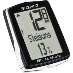 Sigma BC 14.16 ALTI STS CAD Bike computer (cordless) Coded transmission wheel sensor cadence sensor