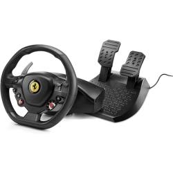Thrustmaster T80 Ferrari 488 GTB Edition Steering wheel PlayStation 4 Black incl. foot pedals Screw fixing
