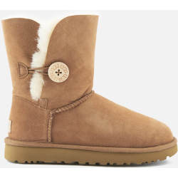 UGG Women's Bailey Button II Boot in Chestnut Size 4 Shearling