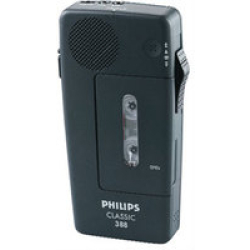 Philips Pocket Memo 388 Classic Analogue dictaphone Max. recording time 30 min Black incl wriststrap