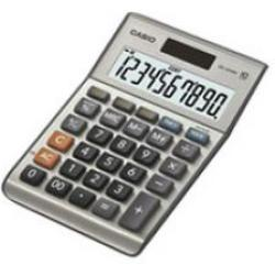 Casio MS 100BM Desk calculator Silver grey Display (digits) 10 solar powered battery powered (W x H x D) 103 x 29 x 147 mm