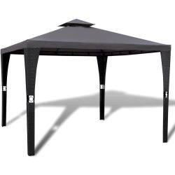 vidaXL Gazebo with Roof 3x3 m Dark Grey