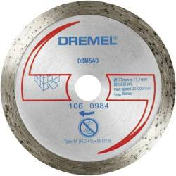 DREMEL® DSM20 Diamond Tile Cutting Wheel (DSM540) Dremel 2615S540JA Diameter 77 mm 1 pc(s)