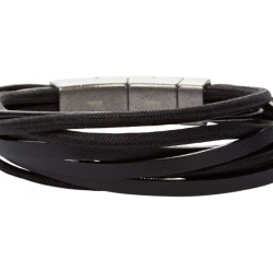 Fossil Men Multi Wrap Bracelet Black One size