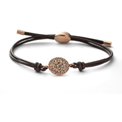 Fossil Women Glitz Disc Wrist Wrap Rose Brown Gold One size