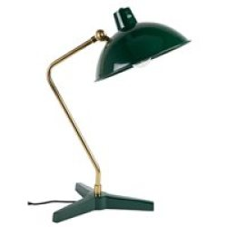 Dutchbone Devi Vintage Desk Lamp in Gloss Green