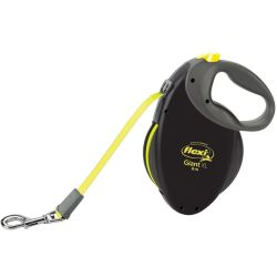 flexi Giant XL Dog Lead 8m Black Neon 8m