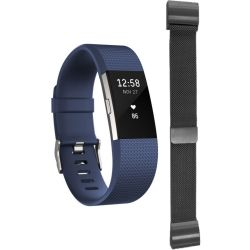 Unisex Fitbit Charge 2 Bluetooth Fitness Activity Tracker Watch FB407SBUL EU
