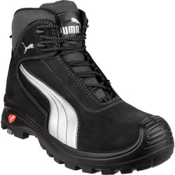 Puma Mens Safety Cascades Mid Safety Boots Black Size 10