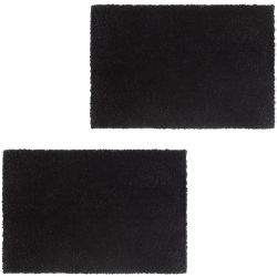 vidaXL Doormats 2 pcs Coir 17 mm 50x80 cm Black
