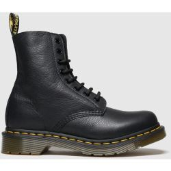 Dr. Martens Women's 1460 Pascal Virginia Leather 8 Eye Boots Black UK 8 Black