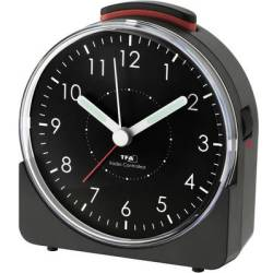TFA Dostmann 60.1513.01 Radio Alarm clock Black Fluorescent Hands