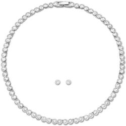 SWAROVSKI Crystal Tennis Necklace and Earrings Set