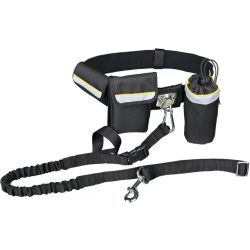 TRIXIE Dog Waist Belt with Leash Black 1275